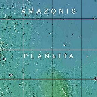 Amazonis Planitia - Image: USGS Mars Amazonis Planitia mola