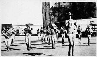 1920 Santo Domingo Census - United States Marines next to Ozama Fortress