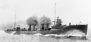 Smith-class destroyer - Image: USS Flusser DD20