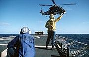 USS Badger (FF-1071) SH-2 taking off