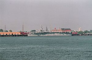 USS Cabot (CVL-28) - Cabot in New Orleans in 1995.