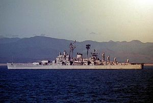 USS Canberra - Canberra off the coast of South Vietnam during her 1966 WESTPAC cruise