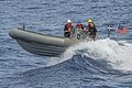 USS Cole conducts small boat operations. (15804758566).jpg
