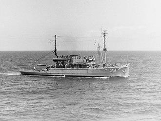 USS Conserver (ARS-39) - USS Conserver (ARS-39) Off Oahu, Hawaii, 26 April 1967