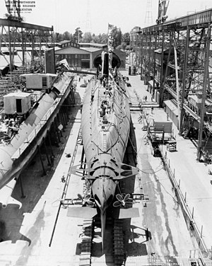 USS Grayback (SSG-574) - Grayback prior to launch