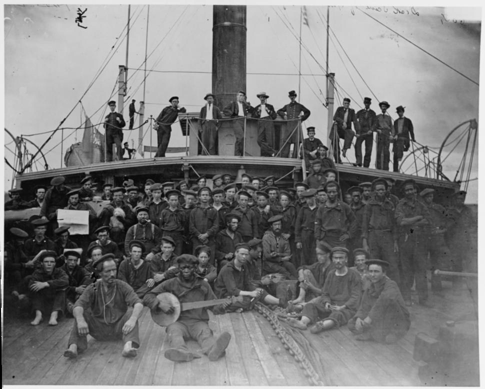 USS Hunchback crewmen in the American Civil War