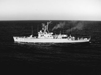 Indonesian Navy - USS John R. Perry, a Claud Jones-class destroyer escort that would later become KRI Samadikun