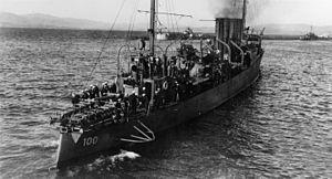 USS Maury (DD-100) - USS Maury (DD-100) at Gibraltar, circa in 1919