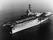 USS Saratoga (CVA-60) off Barcelona on 12 February 1965 (USN 1110849)