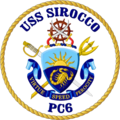 USS Sirocco PC-6 Crest.png