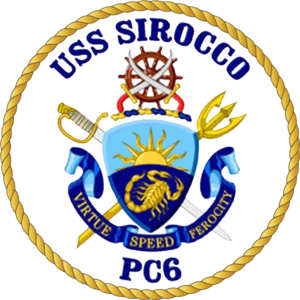 USS Sirocco - Image: USS Sirocco PC 6 Crest