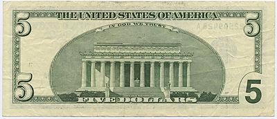 Back Of 5 Bill