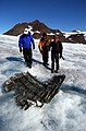 US Navy 040807-N-0331L-006 Recovery personnel examine the wreckage of a Navy P-2V Neptune aircraft that crashed over Greenland in 1962.jpg
