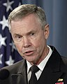 US Navy 050318-D-2987S-094 Vice Director, Strategic Plans and Policy (J5) for the Joint Chiefs of Staff, Rear Adm. William D. Sullivan, responds to a reporter's question.jpg