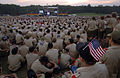 US Navy 050431-N-1810F-392 Scouts gather to listen to Navy volunteers give encouragement to the young scouts, this is one of the many events that adds to the spirit of adventure during the National Boy Scouts Jamboree.jpg