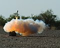 US Navy 060613-M-9727T-136 Leaving a cloud of smoke behind, one of the Smokey Sam rockets is shot off in support of Operation Desert Talon 2006.jpg