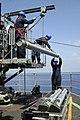 US Navy 060907-N-0730W-025 Crew members aboard the multi-purpose amphibious assault ship USS WASP (LHD 1) load Shipboard Launch Intercept Missiles (SLIM) into a launcher.jpg