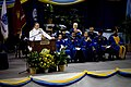 US Navy 070727-N-0696M-172 Chief of Naval Operations, (CNO) Adm. Mike Mullen gives the keynote address during commencement exercises at Southern University in Baton Rouge.jpg