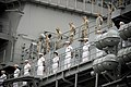 US Navy 080627-N-6674H-020 Sailors and Marines man the rails as the amphibious assault ship USS Bonhomme Richard (LHD 6) arrives at Naval Station Pearl Harbor for a scheduled port call before participating in Rim of the Pacific.jpg