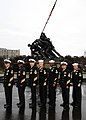 US Navy 090107-N-7948R-001 Some of the selected 2008 Recruiters of the Year, pose in front of the Iwo Jima Memorial in Washington.jpg