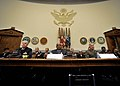 US Navy 090514-N-8273J-040 Chief of Naval Operations, Adm. Gary Roughead, Acting Secretary of the Navy the Honorable BJ Penn and Commandant of the Marine Corps, Gen. James T. Conway testify before members of the House Armed Ser.jpg