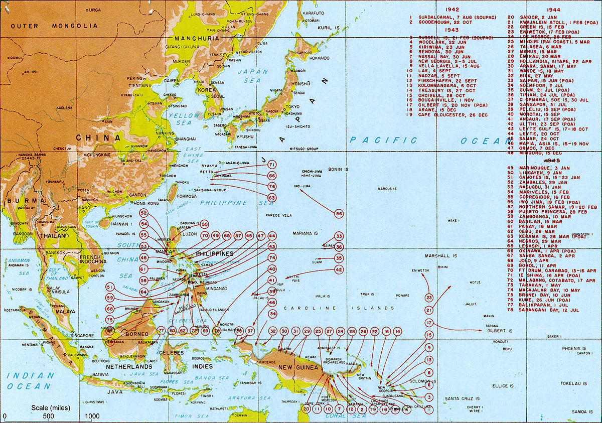 Pacific War Wikipedia - Us pacific islands map