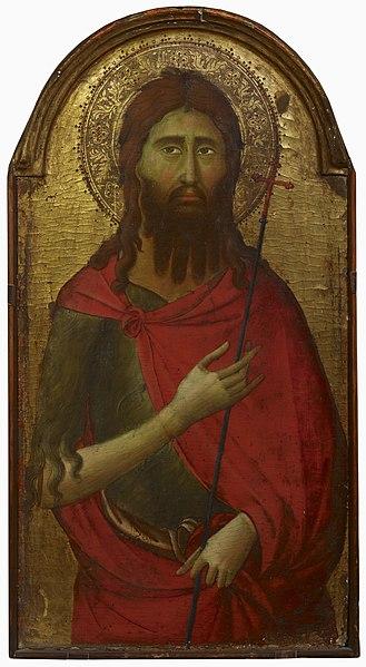 File:Ugolino di Nerio or - tai - eller Ugolino da Siena (1295?-1337?-1347?)- Saint John the Baptist - Johannes Kastaja - Johannes Döparen (29358937062).jpg