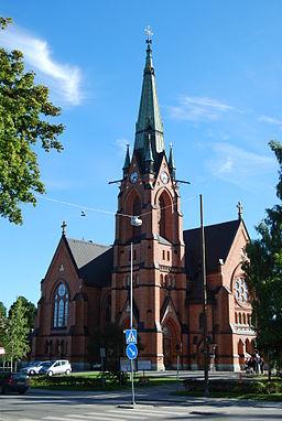 Umeå stads kyrka i september 2010