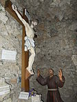 Undercroft in Máriabesnyő Capuchin Church. Crucifix. - Gödöllő.JPG