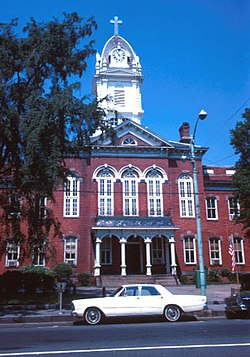 Union County Courthouse in downtown Monroe