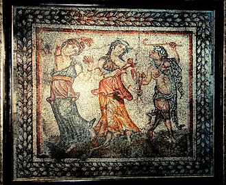 "Stara Zagora - ""Dionysus's Procession"" mosaic from 4th century house"