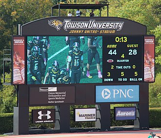 Johnny Unitas Stadium - New Unitas Stadium Scoreboard