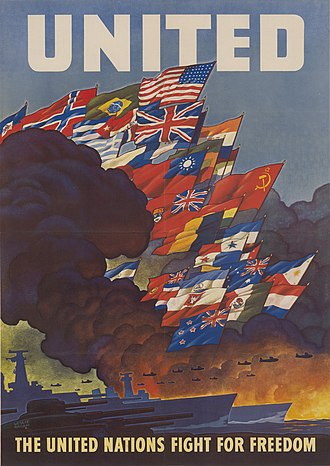 History of the United Nations - Poster for the founding of the United Nations