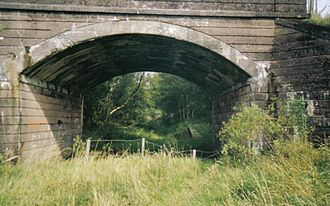 Uplawmoor - A view of the old station on the Ardrossan to Glasgow line. The railway still operates from Neilston to Glasgow.