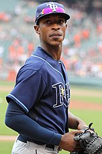 Melvin Upton Jr. (then known as B.J. Upton) with the Tampa Bay Rays in 2011