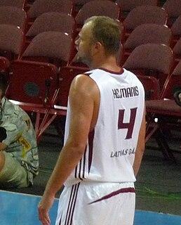Uvis Helmanis Latvian basketball player