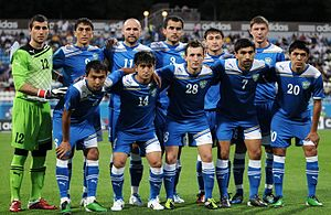 Uzbekistan national football team - Image: Uzbekistan national football team