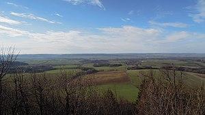Moravian Gate - View from Starý Jičín over the Moravian Gate to the Oderské vrchy mountains