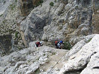 Via ferrata - Via ferrata Piz da Lech, Dolomites, Italy