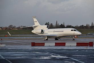 Michael Ashcroft - VP-BZE, Ashcroft's private jet, at Birmingham Airport in 2014