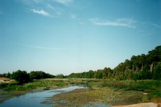 Vääna-Jõesuu - Vääna River near its mouth in Vääna-Jõesuu.