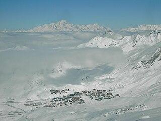 Val Thorens ski resort in France
