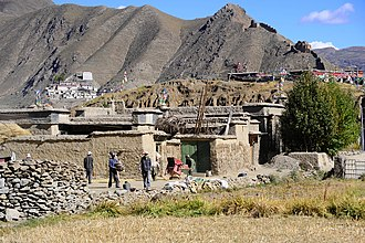 Valley of the Kings (Tibet) - Riwo Dechen monastery, Qonggyai, near the Valley of Kings