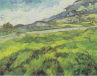 The Wheat Field - Green Wheat Field, June 1889, owner unclear, possibly on loan to Kunsthaus Zurich, Zurich (F718 )