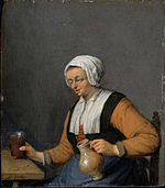 Van Ostade, Adriaen - A Woman with a Beer-jug - Google Art Project.jpg