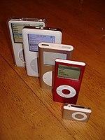Diverse tipologie di iPod.