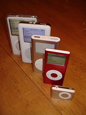 Portable media player - Various iPods, all of which have now been updated or discontinued