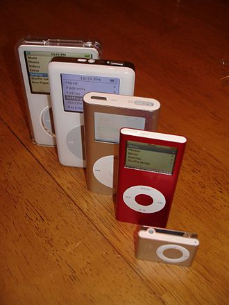 IPod - Various iPod models, all of which have been discontinued or updated