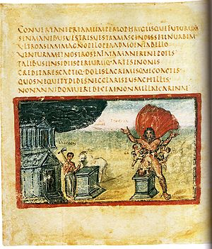 Folio 18v of the Vatican Vergil (Vatican, Bibl...