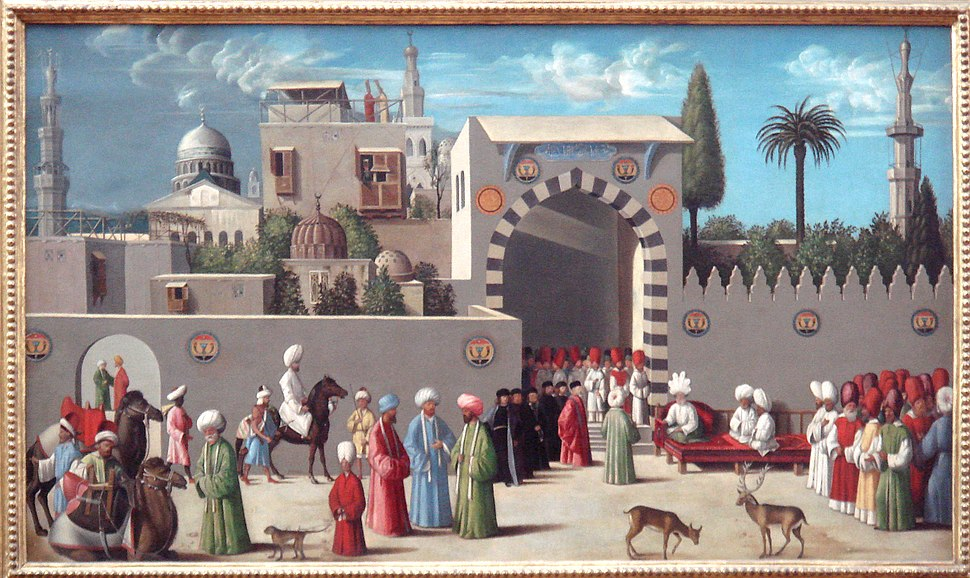 Venetian embassy to the Mamluks in Damascus in 1511 workshop of Giovanni Bellini